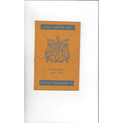 1954/55 Leeds United v Torquay FA Cup Football Programme