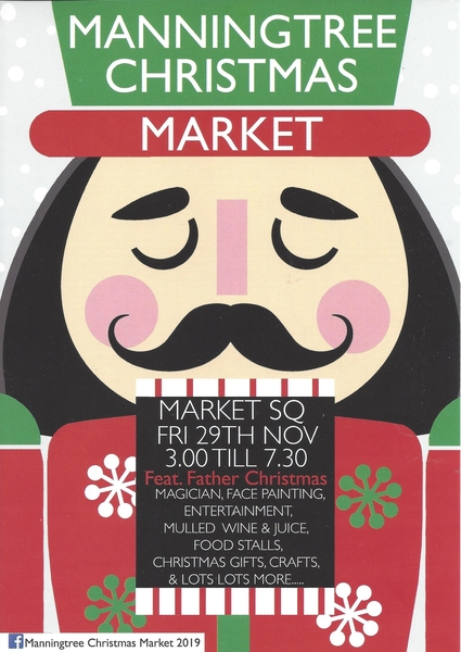 Manningtree Christmas Market, Friday 29th November, 3:00p.m. - 7:30p.m.