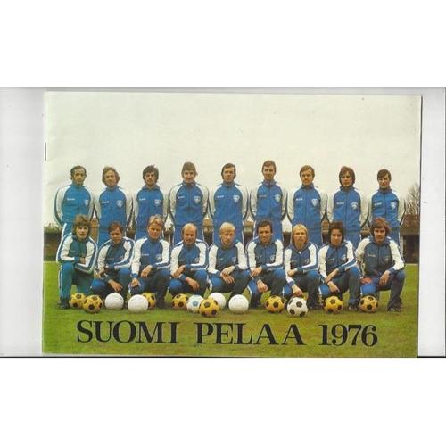 1976 Finland v England Football Programmes + Team Sheet insert