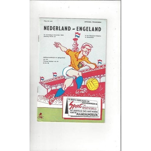 1964 Holland v England Football Programme