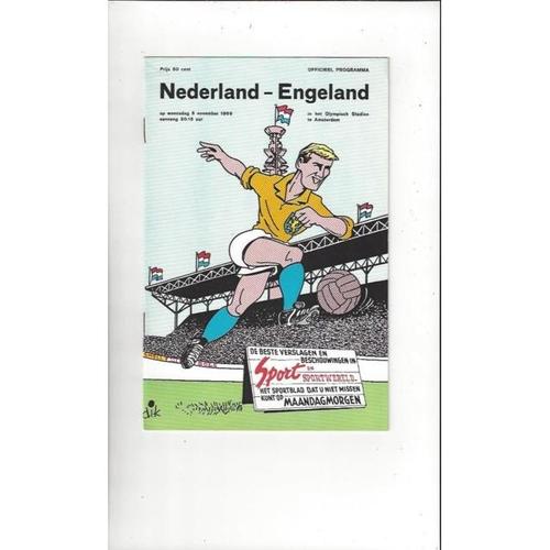 1969 Holland v England Football Programme