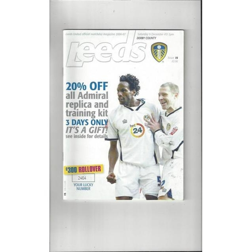 Derby County Away Football Programmes