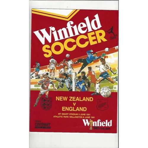 1991 New Zealand v England Football Programme
