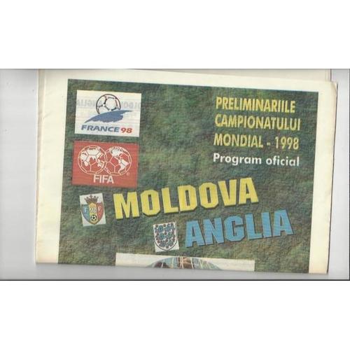 1996 Moldova v England Football Programme