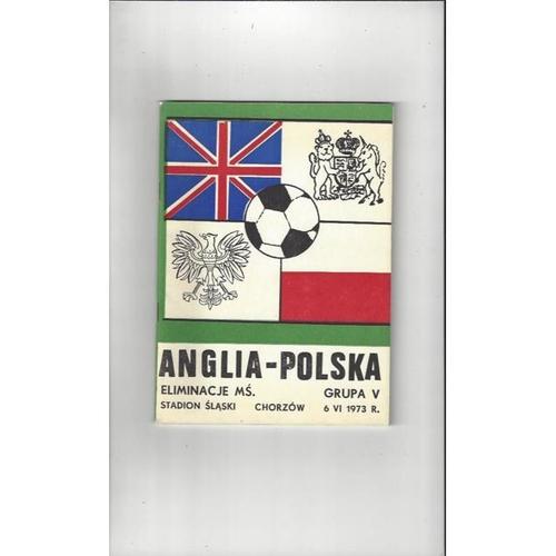1973 Poland v England International Football Programme