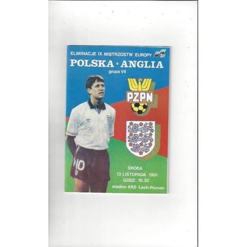 1991 Poland v England Football Programme