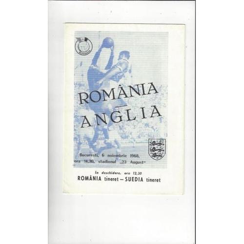 1968 Romania v England Football Programme