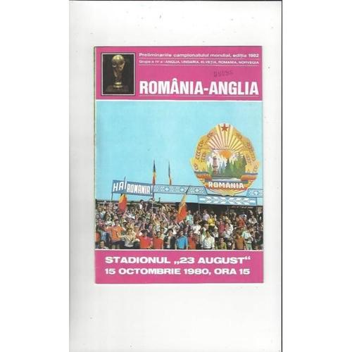 1980 Romania v England Football Programme