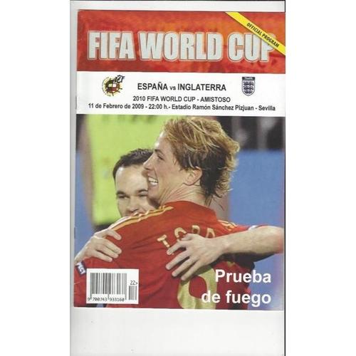 2009 Spain v England Football Programme + Three Lions Fanzine