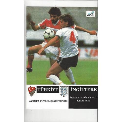 1991 Turkey v England Football Programme + Team Sheet & 2 Newspapers