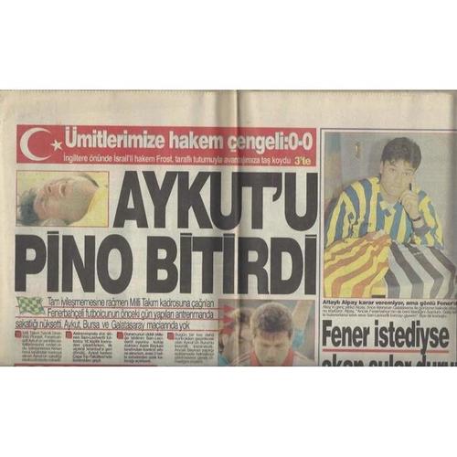 1993 Turkey v England Newspaper Edition