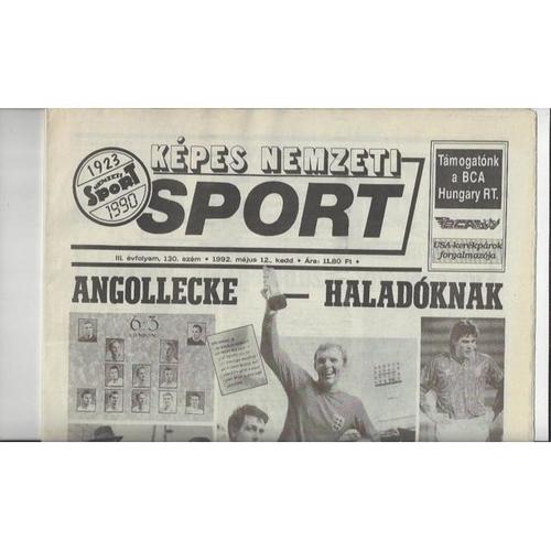 1992 Hungary v England Newspaper Edition