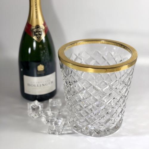Belgian crystal champagne wine bucket cooler