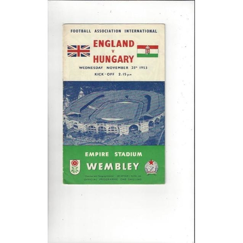 England Home Football Programmes
