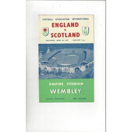 1957 England v Scotland Football Programme