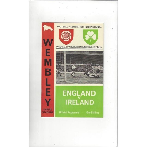1965 England v Ireland Football Programme