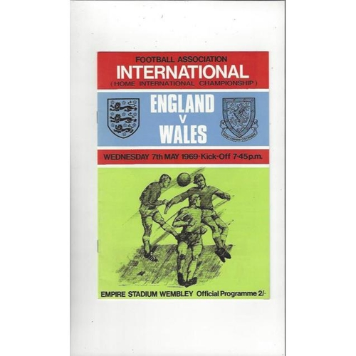 1969 England v Wales Football Programme