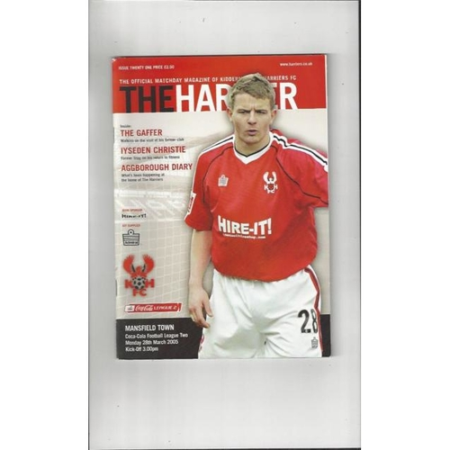 Kidderminster Harriers Home Football Programmes