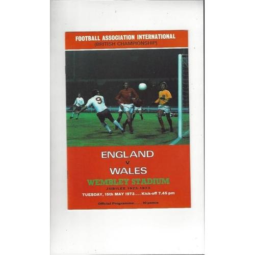 1973 England v Wales British Championship Football Programme
