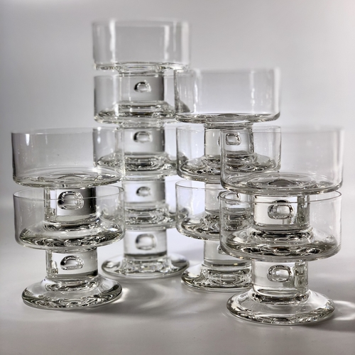 Chunky 1970s French crystal dessert bowls