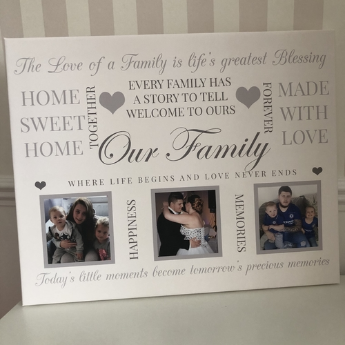 Glitter Canvas Personalised