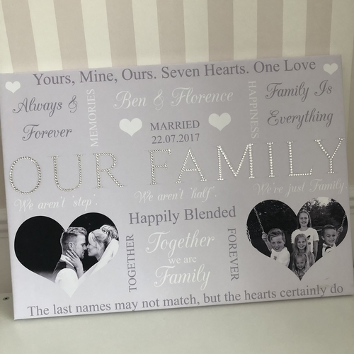 Our Family Glitter Canvas