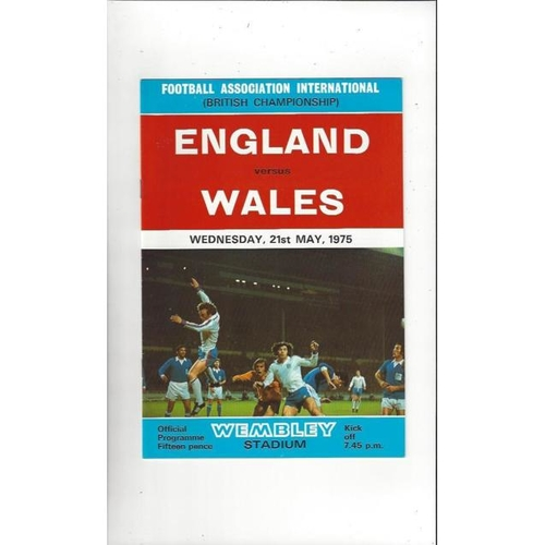1975 England v Wales Football Programme