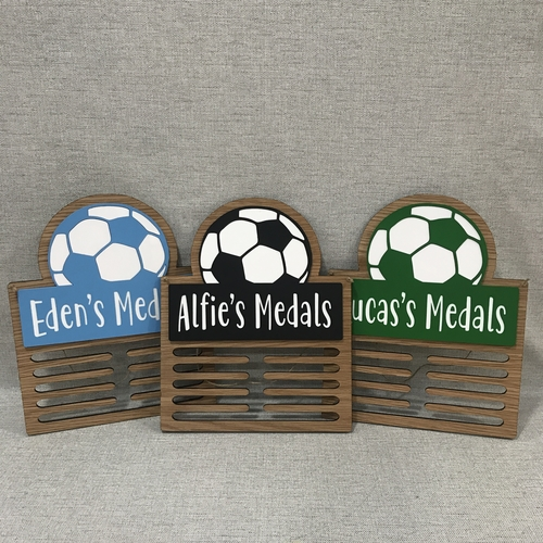 """ FOOTBALL "" Medal display hanger"