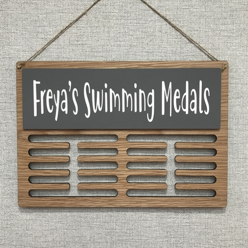 """SWIMMING"" medal display hanger"