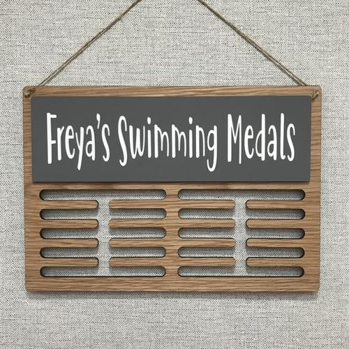 """SWIMMING"" medal display hanger"