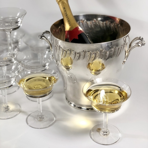 12 sensational Val Saint Lambert champagne saucers