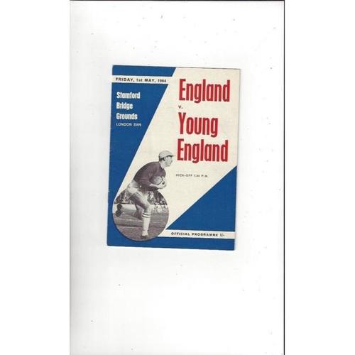 1963/64 England v Young England Football Programme @ Chelsea