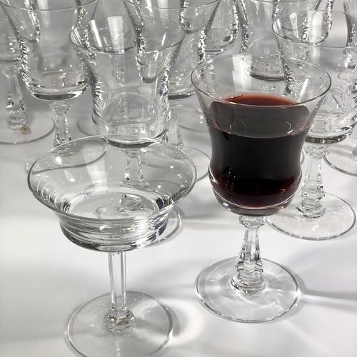 12 Val Saint Lambert crystal wine/water goblets