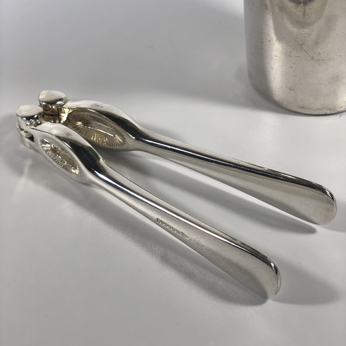 Art Deco silver plated nut crackers by Elkington