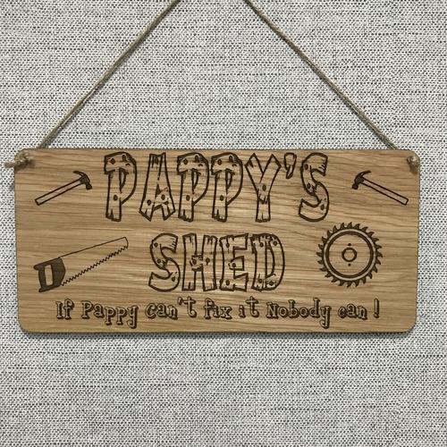 Grandads tool shed plaque