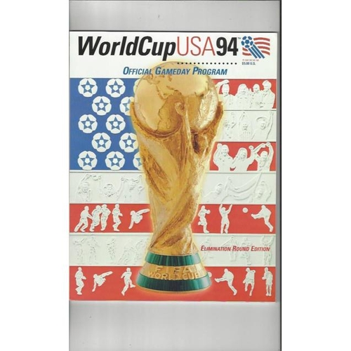 1994 World Cup Final Football Game Day Programme Elimination Edition