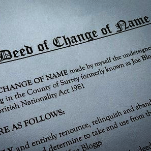 Change of Name Deed