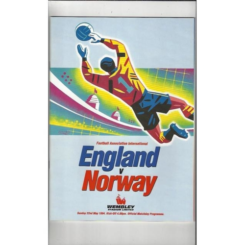 1994 England v Norway Football Programme