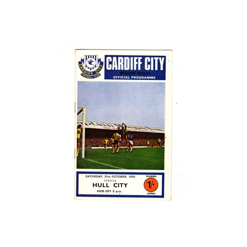 Cardiff City Home Football Programmes