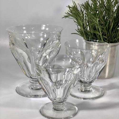 35 Vintage Baccarat crystal drinking glasses
