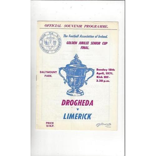 1971 Drogheda v Limerick FAI Cup Final Football Programme