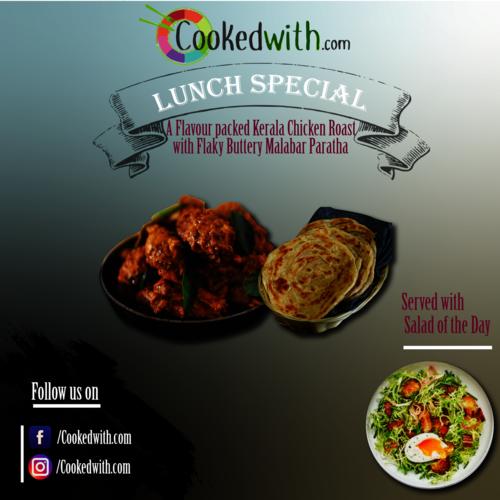Kerala Chicken Roast & Paratha