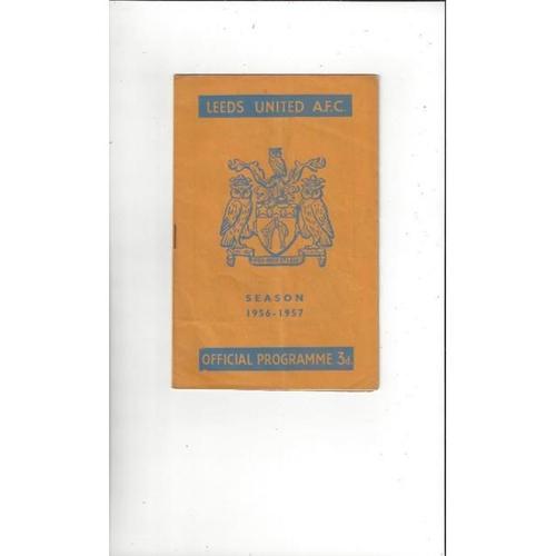 1956/57 Leeds United v Wolves Football Programme