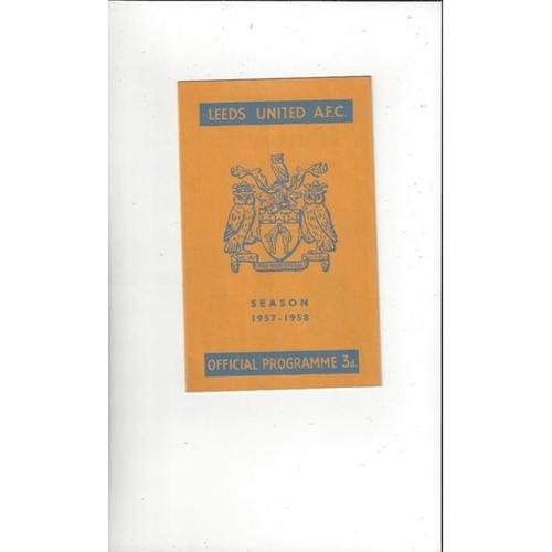 1957/58 Leeds United v Manchester United Football Programme
