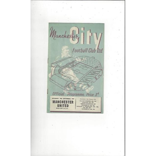 1954/55 Manchester City v Manchester United Football Programme