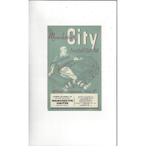 1954/55 Manchester City v Manchester United FA Cup Football Programme