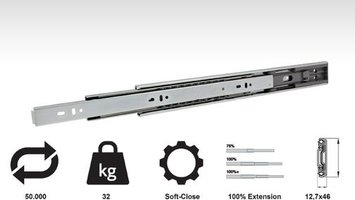 Model CC22 - Standard Drawer Slide