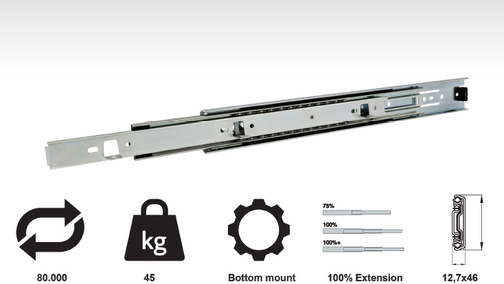 Model 757A - Bottom Mount Drawer Slide