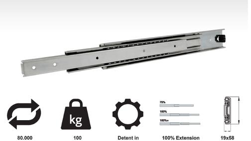 Model 5819 (100 Kg Heavy Duty Full Extension Slides)