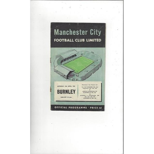 Burnley Away Football Programmes